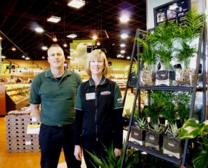 IGA Thunderbird managers with Horty Girl plants